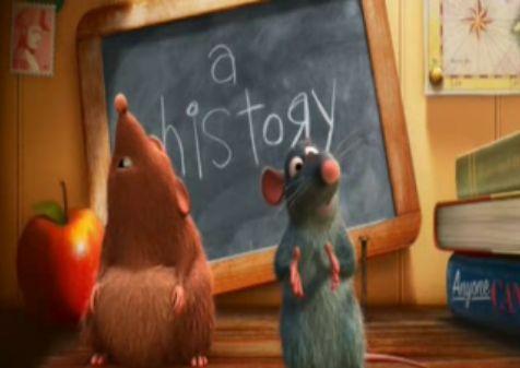 Przyjaciel szczur a'la Ratatuj (Pixar)