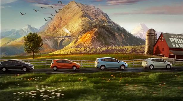 Śpiewająca reklama Toyoty