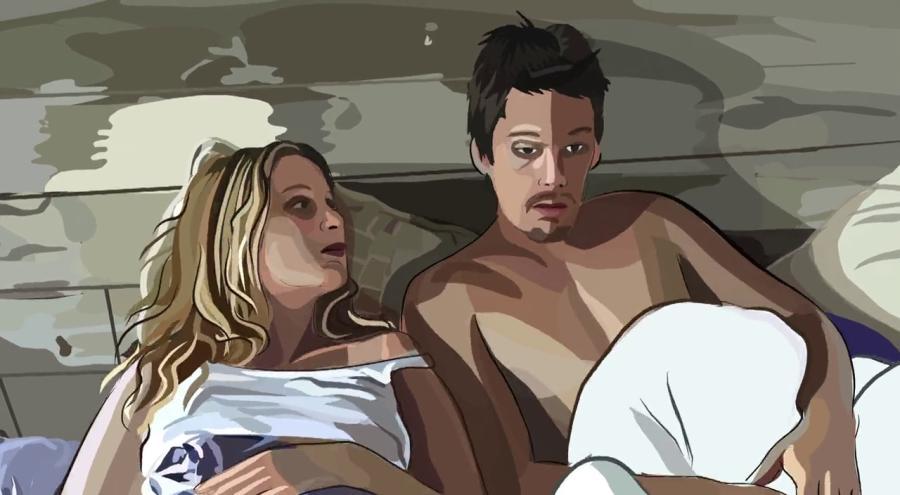 Życie świadome / Waking Life - kadr z filmu