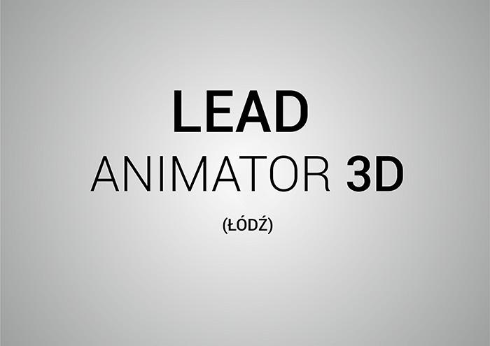 lead animator 3d